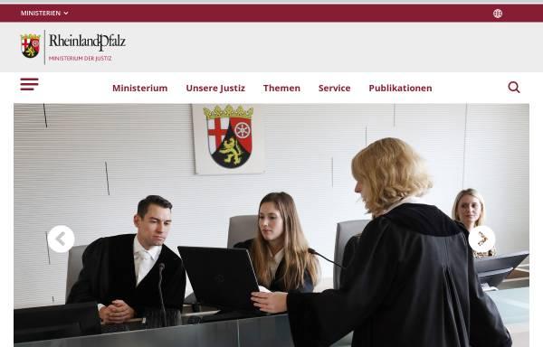 Vorschau von www.mjv.rlp.de, Ministerium der Justiz