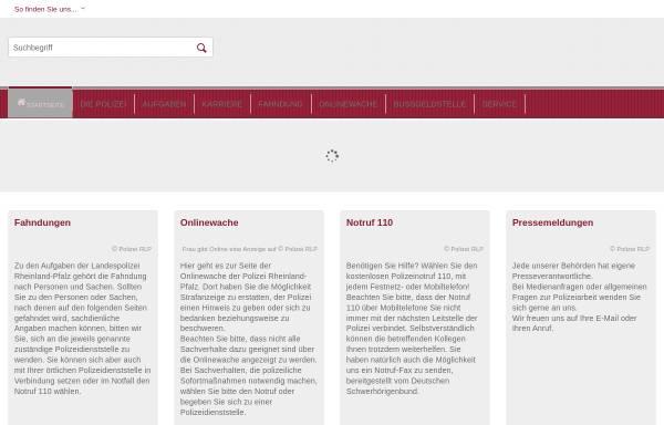 Vorschau von www.polizei.rlp.de, Polizei Rheinland Pfalz