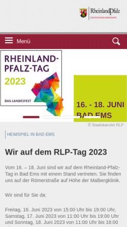 Vorschau der mobilen Webseite www.statistik.rlp.de, Statistisches Landesamt
