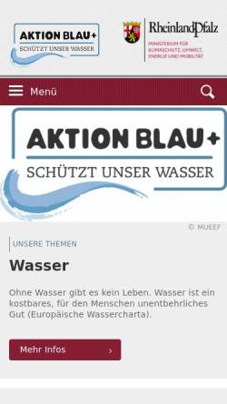 Vorschau der mobilen Webseite www.wasser.rlp.de, Wasserwirtschaftsverwaltung Rheinland-Pfalz