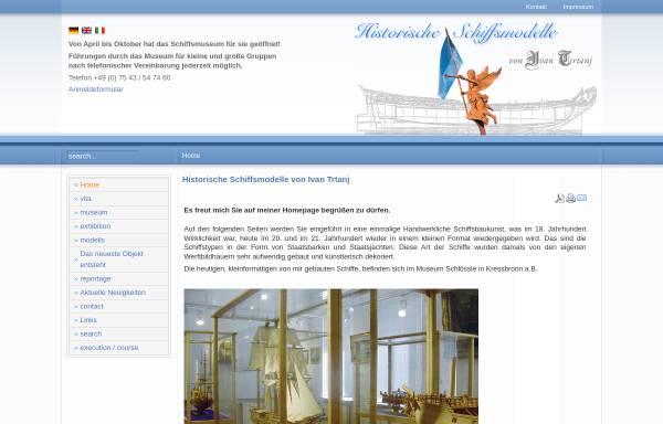 Vorschau von www.historische-schiffsmodelle.com, Museum im Schlössle