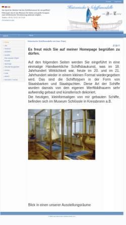 Vorschau der mobilen Webseite www.historische-schiffsmodelle.com, Museum im Schlössle