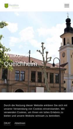 Vorschau der mobilen Webseite queichheim.de, Queichheim - Stadtteil von Landau in der Pfalz