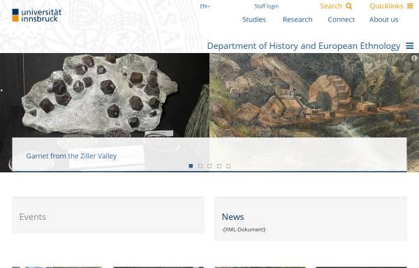 Vorschau von www.uibk.ac.at, Uni Innsbruck - Institut für Geschichte und Ethnologie