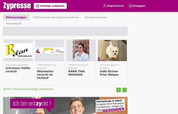 Vorschau von zypresse.com, Zypresse