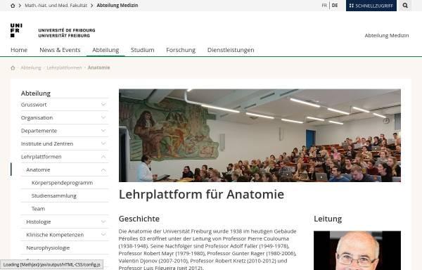 Abteilung Anatomie der Universität Fribourg: Fakultäten und ...