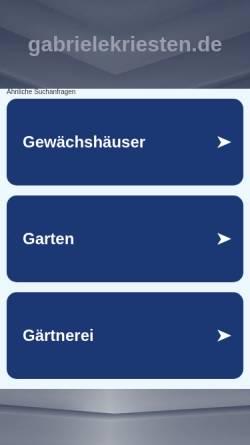 Vorschau der mobilen Webseite gabrielekriesten.de, Astrologie und Fogo Sagrado