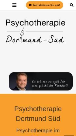 Vorschau der mobilen Webseite psychotherapiedortmund.de, Psychotherapie Dortmund Süd
