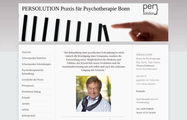 Vorschau von diplpsychkuhlmann.de, Praxis für Psychotherapie Dipl.Psych. Dipl.Vw. Thomas Kuhlmann