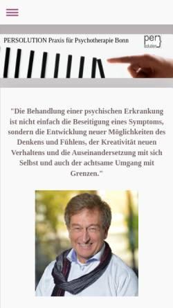 Vorschau der mobilen Webseite www.diplpsychkuhlmann.de, Praxis für Psychotherapie Dipl.Psych. Dipl.Vw. Thomas Kuhlmann