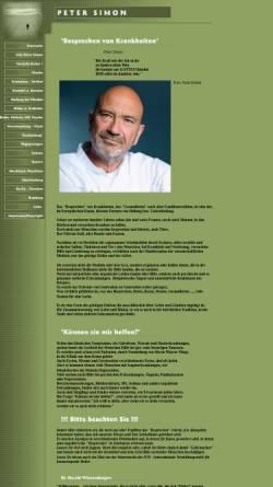 Vorschau der mobilen Webseite peter-simon.de, Besprechen von Krankheiten