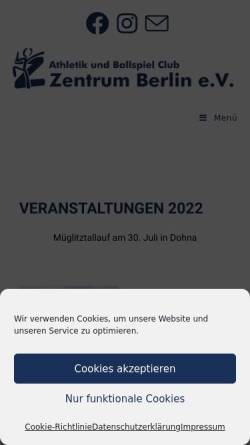 Vorschau der mobilen Webseite www.abczentrum-berlin.de, ABC Zentrum Berlin e.V.