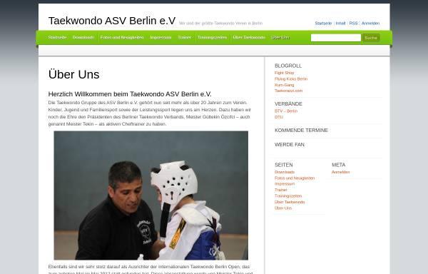 Vorschau von www.taekwondo-asv.de, ASV e.V. - Taekwondo Abteilung