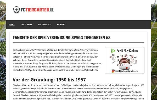 Vorschau von www.fctiergarten.de, Fußball Club Tiergarten