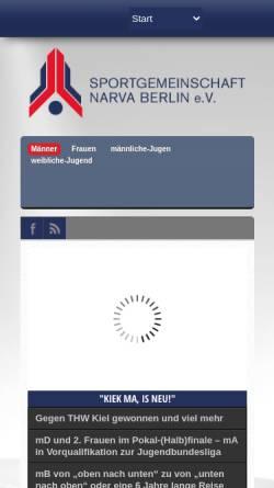 Vorschau der mobilen Webseite www.sg-narva.de, SG-Narva e.V.