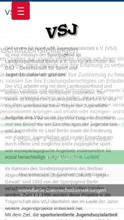 Vorschau der mobilen Webseite www.vsj-berlin.de, VSJ Berlin