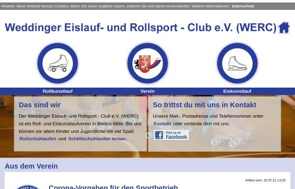 Vorschau von www.werc-berlin.de, Weddinger Eislauf- und Rollsport Club e.V.