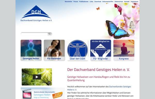 Vorschau von www.dgh-ev.de, Dachverband Geistiges Heilen