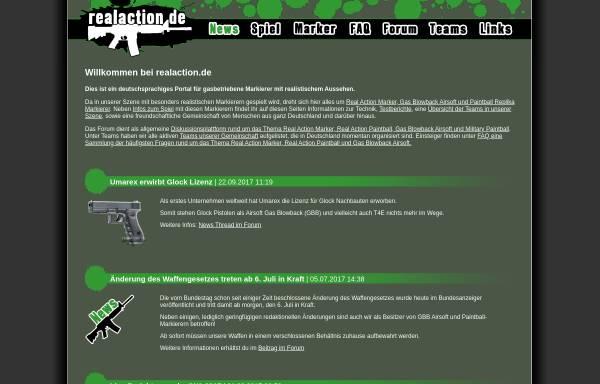 Vorschau von www.realaction.de, Real Action Marker Portal