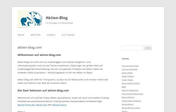 Vorschau von aktien-blog.com, Aktien-Blog