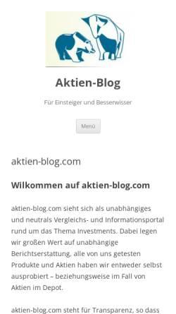 Vorschau der mobilen Webseite aktien-blog.com, Aktien-Blog