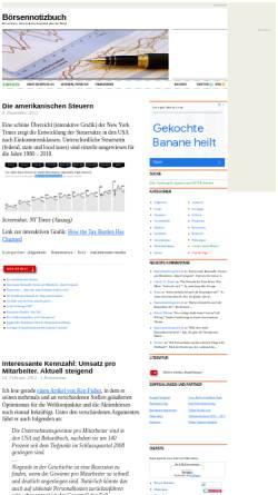 Vorschau der mobilen Webseite www.boersennotizbuch.de, Boersennotizbuch