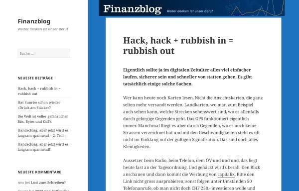 Vorschau von finanzblog.ch, Finanzblog