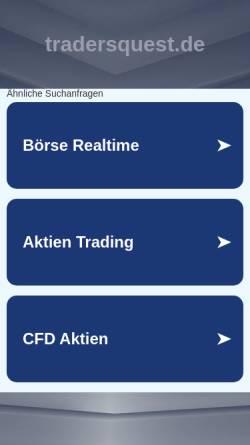 Vorschau der mobilen Webseite www.tradersquest.de, Trader's Quest