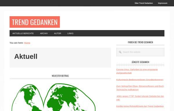 Vorschau von trendgedanken.de, Trend Gedanken by Gert Schmidt