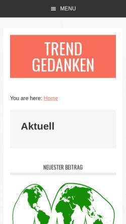 Vorschau der mobilen Webseite trendgedanken.de, Trend Gedanken by Gert Schmidt