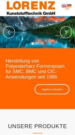 Vorschau der mobilen Webseite www.lomix.de, Lorenz Kunststofftechnik GmbH