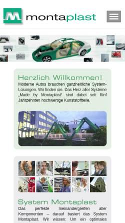 Vorschau der mobilen Webseite www.montaplast.com, Montaplast GmbH