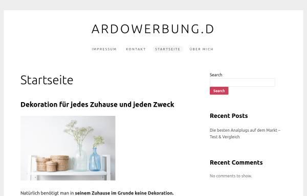 Vorschau von www.ardowerbung.de, Ardo Werbung GmbH