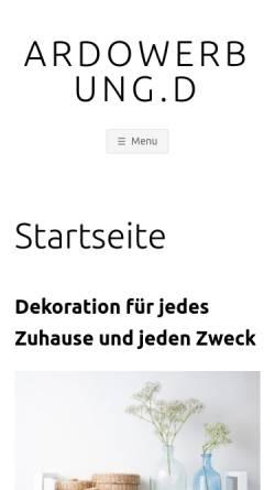 Vorschau der mobilen Webseite www.ardowerbung.de, Ardo Werbung GmbH
