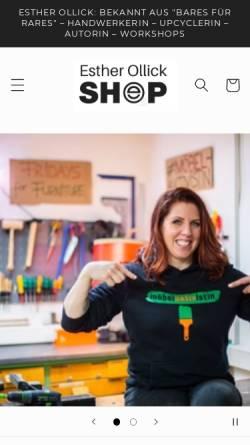 Vorschau der mobilen Webseite www.der-werksalon.de, Der Werksalon Esther Ollick- den Haring