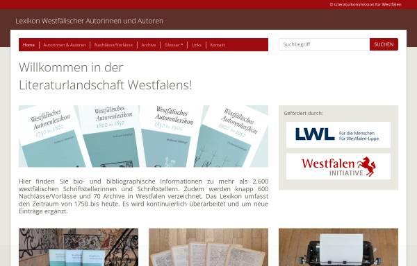Vorschau von www.lwl.org, Lexikon Westfälischer Autoren und Autorinnen 1750-1950