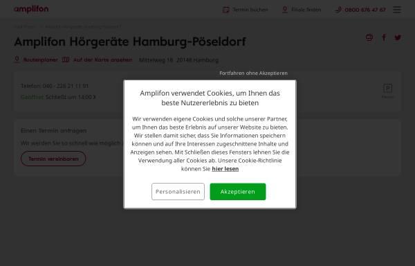 Vorschau von www.amplifon.com, Hörzentrum Freiberger