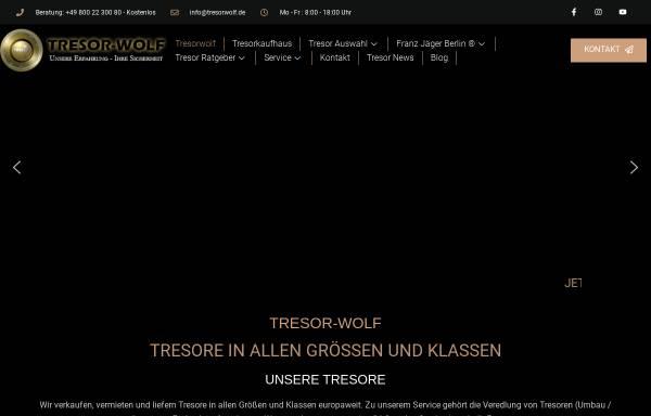 Vorschau von www.tresorwolf.de, Tresor Wolf
