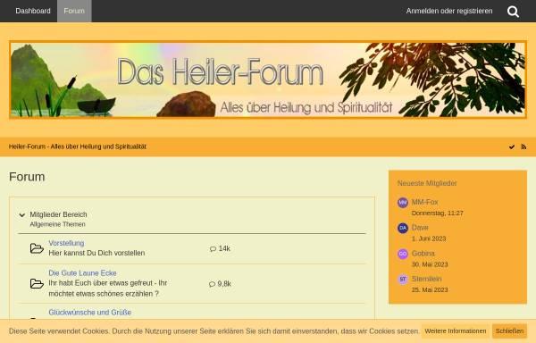 Vorschau von www.heiler-forum.net, Heiler-forum.net