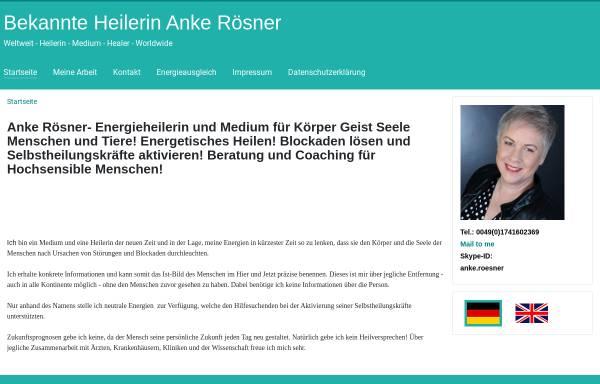 Vorschau von www.anke-roesner-heilerin.de, Heilerin und Medium Anke Rösner-Schürmann