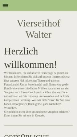Vorschau der mobilen Webseite www.vierseithof-walter.de, Vierseitenhof Walter