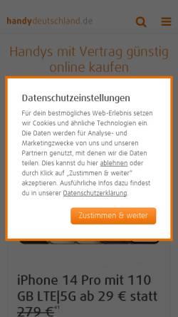 Vorschau der mobilen Webseite www.handy-deutschland.de, Handy Deutschland