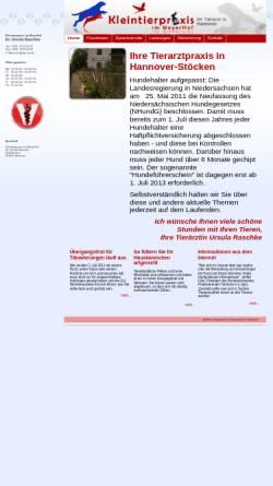 Vorschau der mobilen Webseite www.kleintierpraxis-im-meyerhof.de, Kleintierpraxis im Meyerhof - Dr. Ursula Raschke