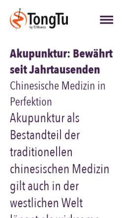 Vorschau der mobilen Webseite www.tcmswiss.ch, TCMswiss