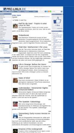 Vorschau der mobilen Webseite www.pro-linux.de, Pro-Linux: Spiele für Linux