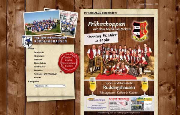Vorschau von www.sst-rueddingshausen.de, Sing-, Spiel- und Trachtengruppe Rüddingshausen