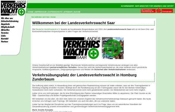 Vorschau von www.verkehrswacht-saar.de, Landesverkehrswacht e.V.