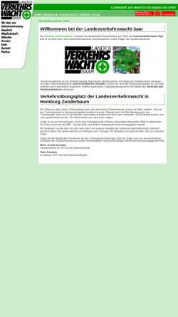 Vorschau der mobilen Webseite www.verkehrswacht-saar.de, Landesverkehrswacht e.V.
