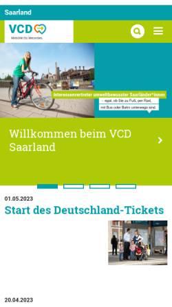 Vorschau der mobilen Webseite www.vcd.org, VCD Verkehrsclub Deutschland Landesverband