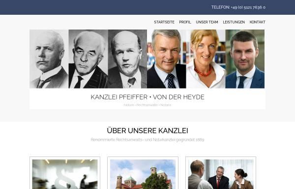 Vorschau von www.pfeiffer-recht.de, Pfeiffer   Von der Heyde